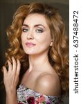 beautiful young woman | Shutterstock . vector #637488472