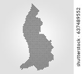 abstract halftone dot map of... | Shutterstock . vector #637489552