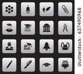 set of 16 editable school icons....
