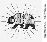 california vintage typography ... | Shutterstock .eps vector #637493266