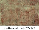 peeled concrete aged wall.... | Shutterstock . vector #637497496