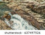 Violent River Rapid In The...