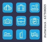 baggage icon. set of 9 outline... | Shutterstock .eps vector #637508005