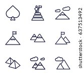 peak icons set. set of 9 peak... | Shutterstock .eps vector #637513492