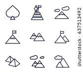 peak icons set. set of 9 peak... | Shutterstock .eps vector #637513492