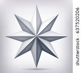 volume eight pointed gray star  ... | Shutterstock .eps vector #637520206