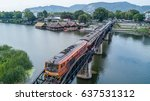 Aerial View Train On The Bridge ...