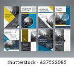 abstract brochure design with... | Shutterstock .eps vector #637533085