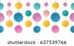 vector happy colorful birthday... | Shutterstock .eps vector #637539766
