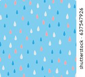 falling raindrops. rain drops... | Shutterstock .eps vector #637547926