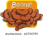 red beans | Shutterstock .eps vector #63754795