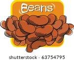 red beans | Shutterstock .eps vector #63754795