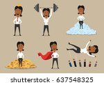 success and victory... | Shutterstock .eps vector #637548325