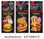 fast food restaurant vector... | Shutterstock .eps vector #637548472
