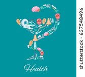 health medical vector poster of ... | Shutterstock .eps vector #637548496