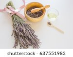 aromatherapy oil ingredients.... | Shutterstock . vector #637551982