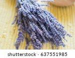 close up of a bouquet of dried... | Shutterstock . vector #637551985