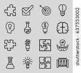 set of 16 solution outline... | Shutterstock .eps vector #637553002
