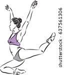 woman dancer vector illustration   Shutterstock .eps vector #637561306