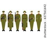 military uniforms vietnamese...   Shutterstock .eps vector #637561642