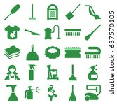 cleaner icons set. set of 25... | Shutterstock .eps vector #637570105
