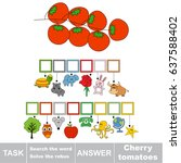 educational puzzle game for... | Shutterstock .eps vector #637588402