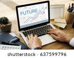 future tomorrow direction... | Shutterstock . vector #637599796
