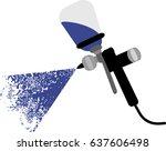 spray gun to paint cars | Shutterstock .eps vector #637606498