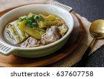 bitter melon soup  | Shutterstock . vector #637607758