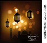 ramadan kareem vector... | Shutterstock .eps vector #637610785