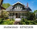 classic craftsman house in... | Shutterstock . vector #637621636