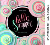 summer sale background with... | Shutterstock .eps vector #637630828