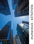 new york city   perspective... | Shutterstock . vector #637637656