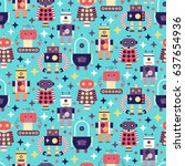 seamless pattern with different ...   Shutterstock .eps vector #637654936
