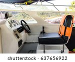 boat driver seat | Shutterstock . vector #637656922