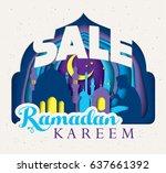 sale concept ramadan kareem... | Shutterstock .eps vector #637661392