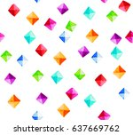 seamless pattern with hand... | Shutterstock . vector #637669762
