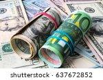 background of the money. euro... | Shutterstock . vector #637672852