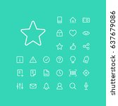 star icon in set on the green... | Shutterstock .eps vector #637679086