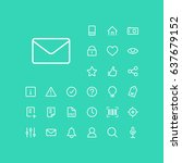 mail icon in set on the green... | Shutterstock .eps vector #637679152