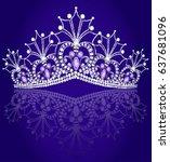 illustrations crown diadem... | Shutterstock .eps vector #637681096