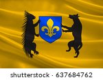 flag of blois is a city and the ... | Shutterstock . vector #637684762
