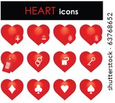 hearts icon | Shutterstock .eps vector #63768652