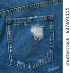 female back jeans shorts on... | Shutterstock . vector #637691155