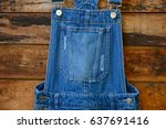 bib jean for holded pants... | Shutterstock . vector #637691416
