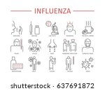 influenza. flu symptoms ... | Shutterstock . vector #637691872