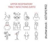 upper respiratory tract... | Shutterstock . vector #637691902