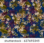 art floral and leaf | Shutterstock . vector #637693345