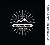 mountains logo vector template | Shutterstock .eps vector #637694092