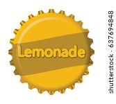 colorful vintage lemonade label ... | Shutterstock .eps vector #637694848